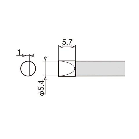 Паяльне жало GOOT RX-80HRT-5.4D Прев'ю 1
