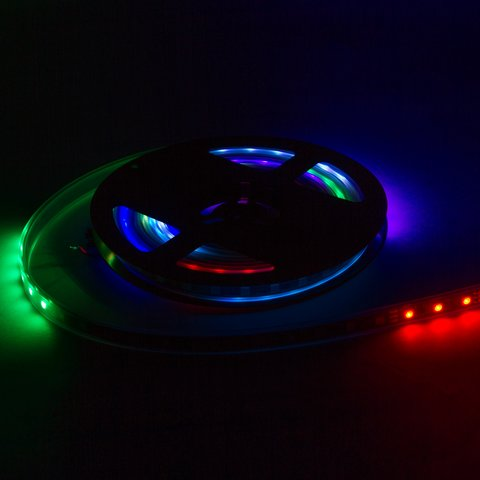 Світлодіодна стрічка RGB SMD5050, WS2812B (з управлінням, IP67, 5 В, 30 діодів/м, 5 м) - Перегляд 3