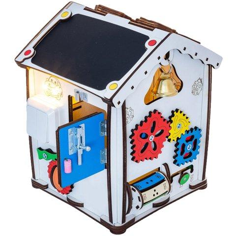 Бизиборд GoodPlay Развивающий домик с подсветкой (24×24×30) Превью 2
