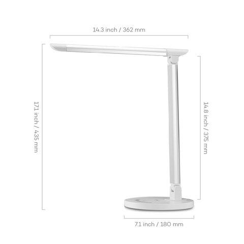Dimmable Rotatable Shadeless LED Desk Lamp TaoTronics TT-DL13, White, EU Preview 1